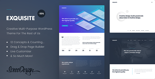 Exquisite Preview Wordpress Theme - Rating, Reviews, Preview, Demo & Download