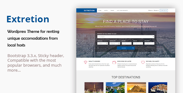 Extretion Preview Wordpress Theme - Rating, Reviews, Preview, Demo & Download