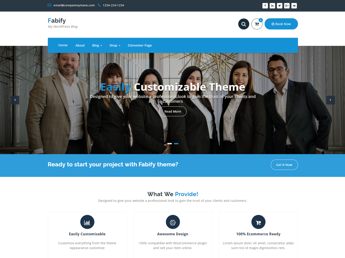 Fabify Preview Wordpress Theme - Rating, Reviews, Preview, Demo & Download