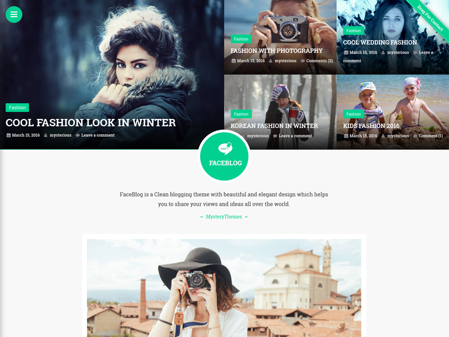FaceBlog Preview Wordpress Theme - Rating, Reviews, Preview, Demo & Download