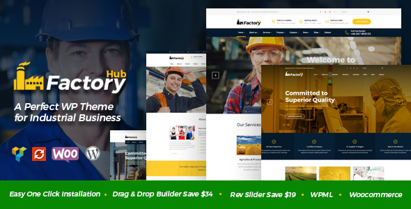 Factory HUB Preview Wordpress Theme - Rating, Reviews, Preview, Demo & Download