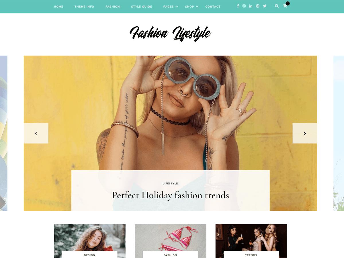 Fashion Lifestyle Preview Wordpress Theme - Rating, Reviews, Preview, Demo & Download