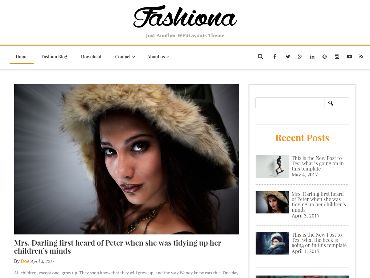 Fashiona Preview Wordpress Theme - Rating, Reviews, Preview, Demo & Download