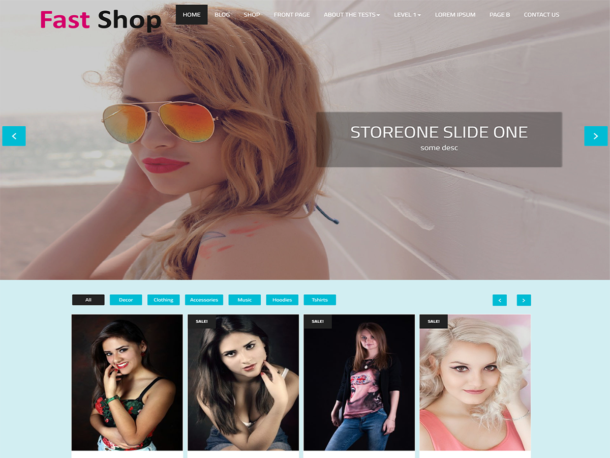 Fast Shop Preview Wordpress Theme - Rating, Reviews, Preview, Demo & Download