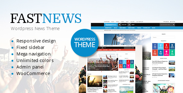 FastNews Preview Wordpress Theme - Rating, Reviews, Preview, Demo & Download