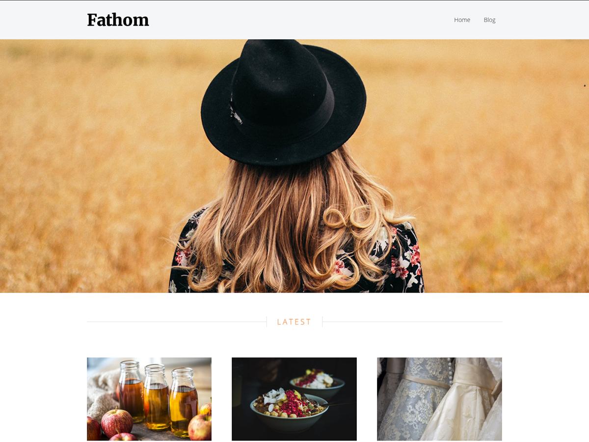 Fathom Preview Wordpress Theme - Rating, Reviews, Preview, Demo & Download