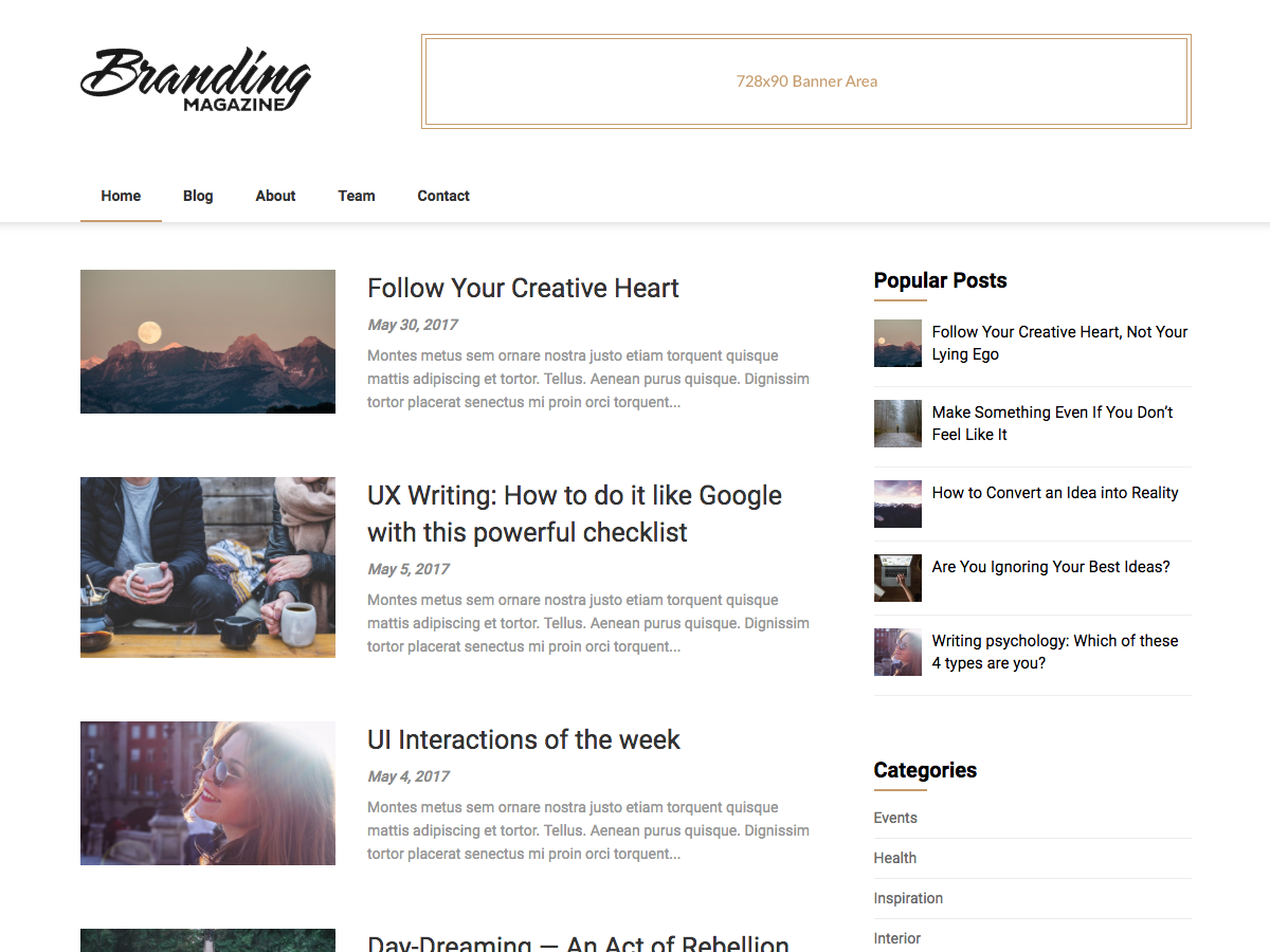 Feather Magazine Preview Wordpress Theme - Rating, Reviews, Preview, Demo & Download