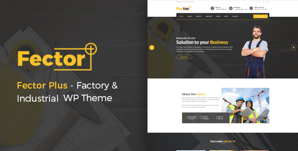 Fector Plus Preview Wordpress Theme - Rating, Reviews, Preview, Demo & Download