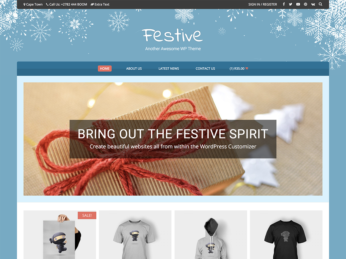 Festive Preview Wordpress Theme - Rating, Reviews, Preview, Demo & Download