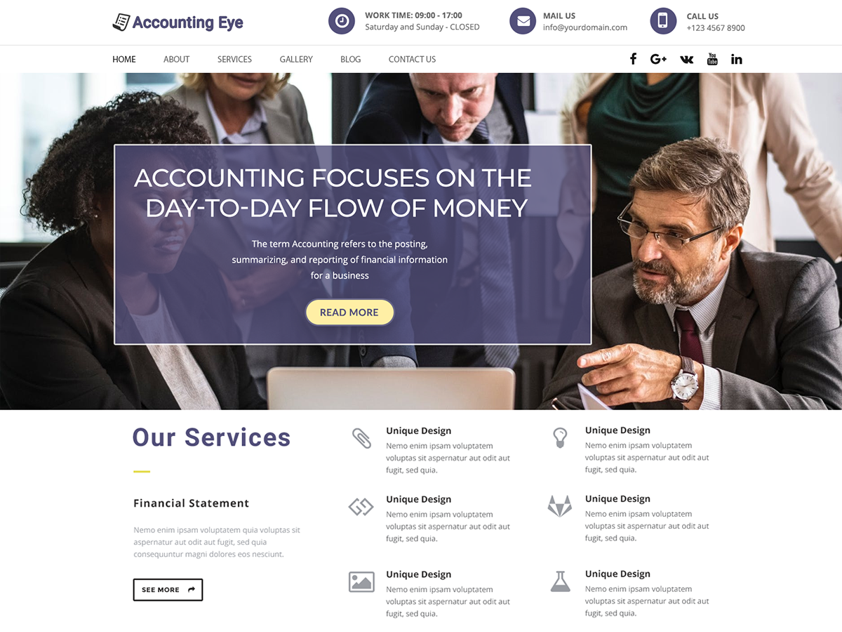 Finance Accounting Preview Wordpress Theme - Rating, Reviews, Preview, Demo & Download