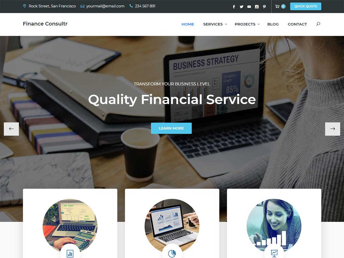 Finance Consultr Preview Wordpress Theme - Rating, Reviews, Preview, Demo & Download