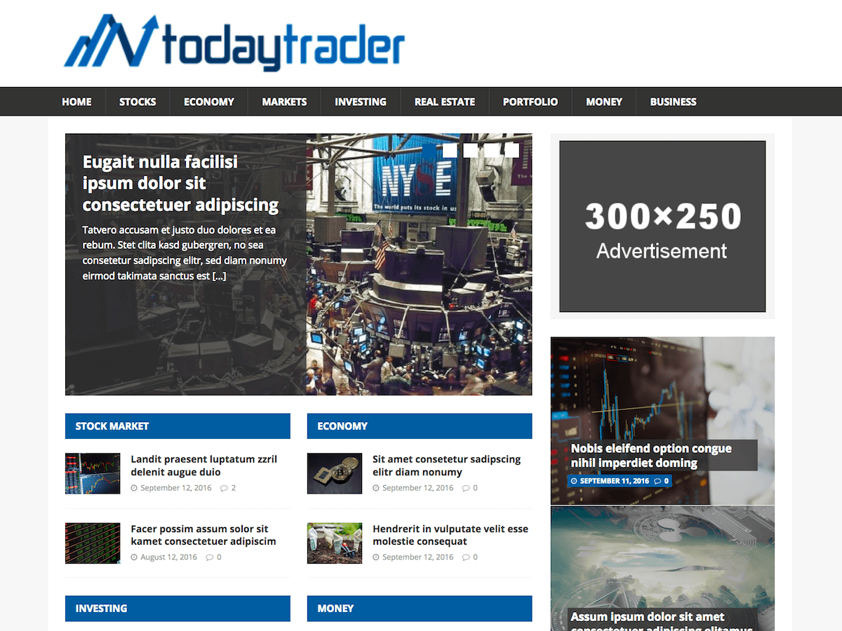 Financial News Preview Wordpress Theme - Rating, Reviews, Preview, Demo & Download