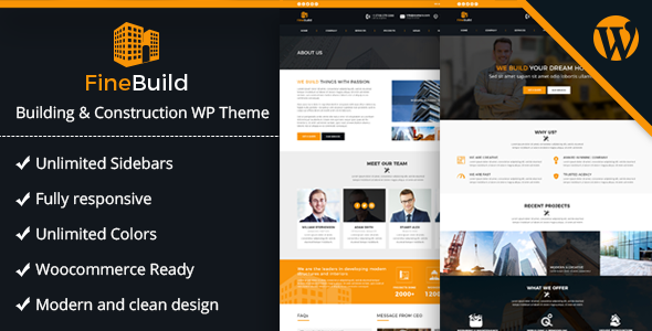 Fine Build Preview Wordpress Theme - Rating, Reviews, Preview, Demo & Download