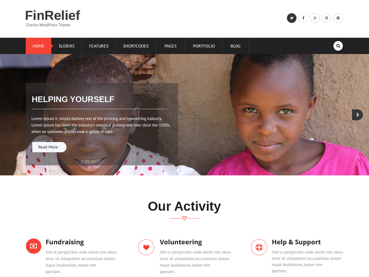 FinRelief Preview Wordpress Theme - Rating, Reviews, Preview, Demo & Download