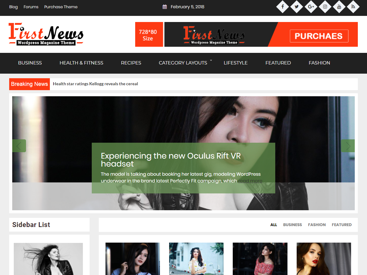 First News Preview Wordpress Theme - Rating, Reviews, Preview, Demo & Download