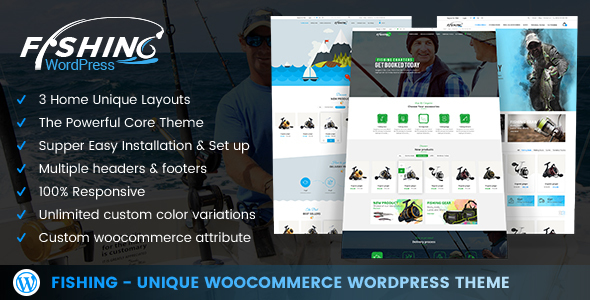 Fishing Preview Wordpress Theme - Rating, Reviews, Preview, Demo & Download