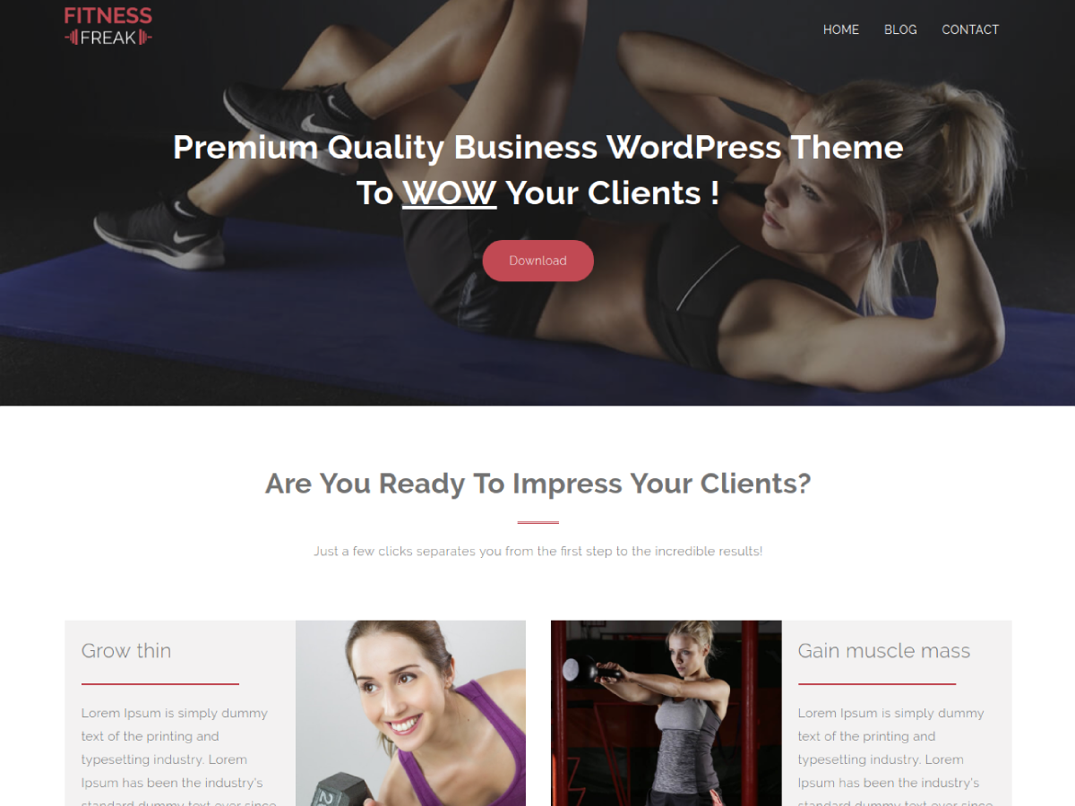 Fitness Freak Preview Wordpress Theme - Rating, Reviews, Preview, Demo & Download
