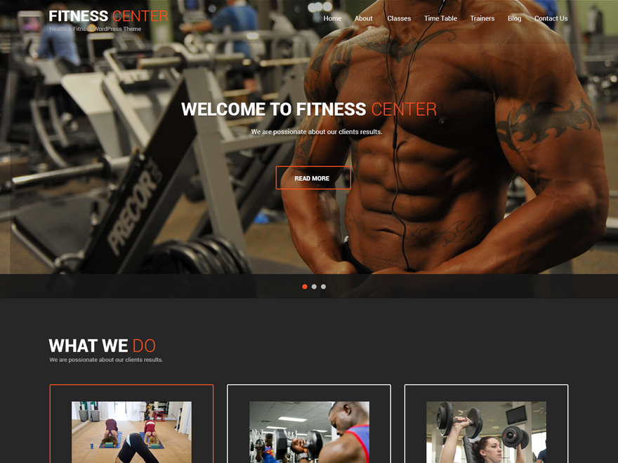Fitness Lite Preview Wordpress Theme - Rating, Reviews, Preview, Demo & Download