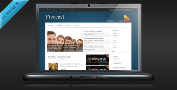 Fivecast Preview Wordpress Theme - Rating, Reviews, Preview, Demo & Download
