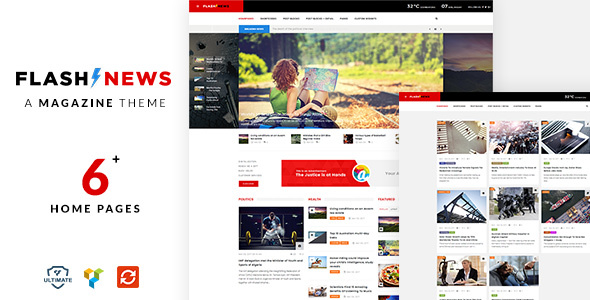 Flash News Preview Wordpress Theme - Rating, Reviews, Preview, Demo & Download