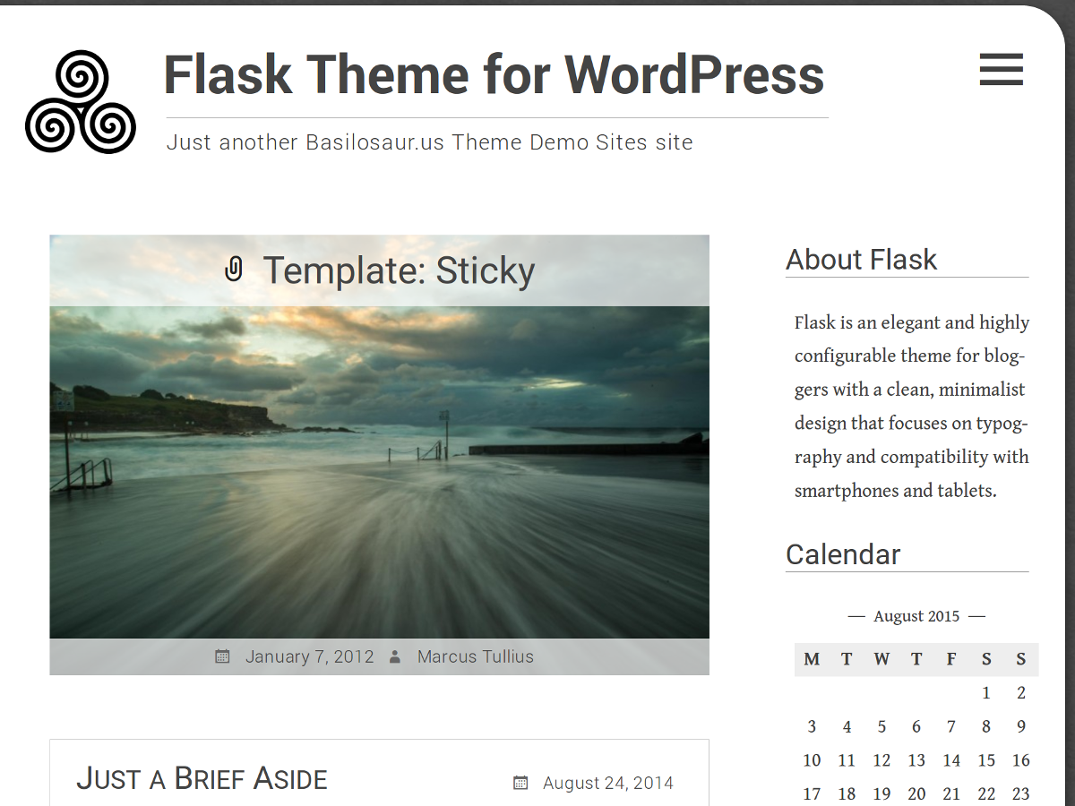 Flask Preview Wordpress Theme - Rating, Reviews, Preview, Demo & Download
