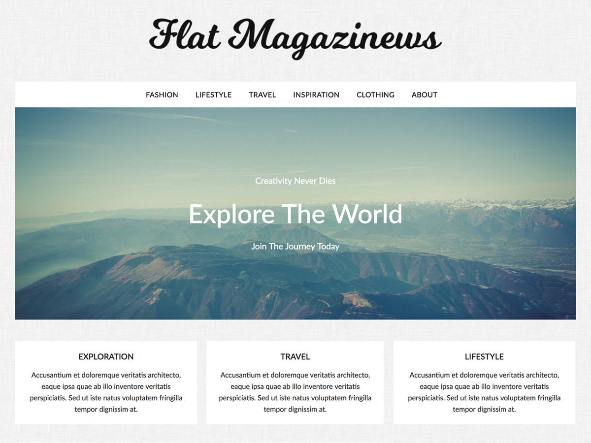 FlatMagazinews Preview Wordpress Theme - Rating, Reviews, Preview, Demo & Download