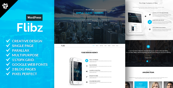 Flibz Preview Wordpress Theme - Rating, Reviews, Preview, Demo & Download