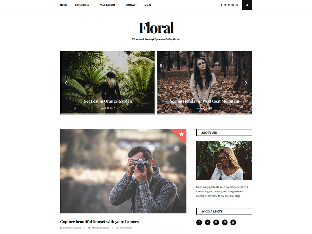 Floral Lite Preview Wordpress Theme - Rating, Reviews, Preview, Demo & Download