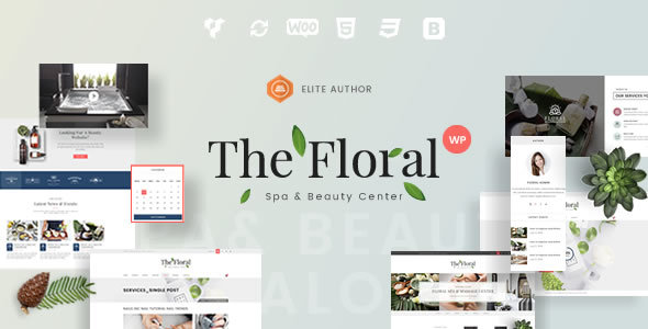 Floral Preview Wordpress Theme - Rating, Reviews, Preview, Demo & Download