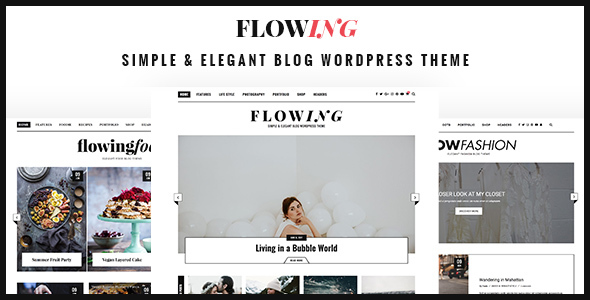 Flowing Preview Wordpress Theme - Rating, Reviews, Preview, Demo & Download