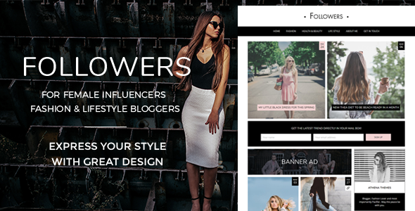 Followers Preview Wordpress Theme - Rating, Reviews, Preview, Demo & Download