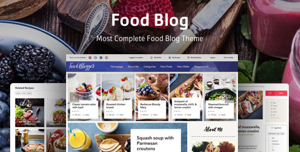 Food Blog Preview Wordpress Theme - Rating, Reviews, Preview, Demo & Download