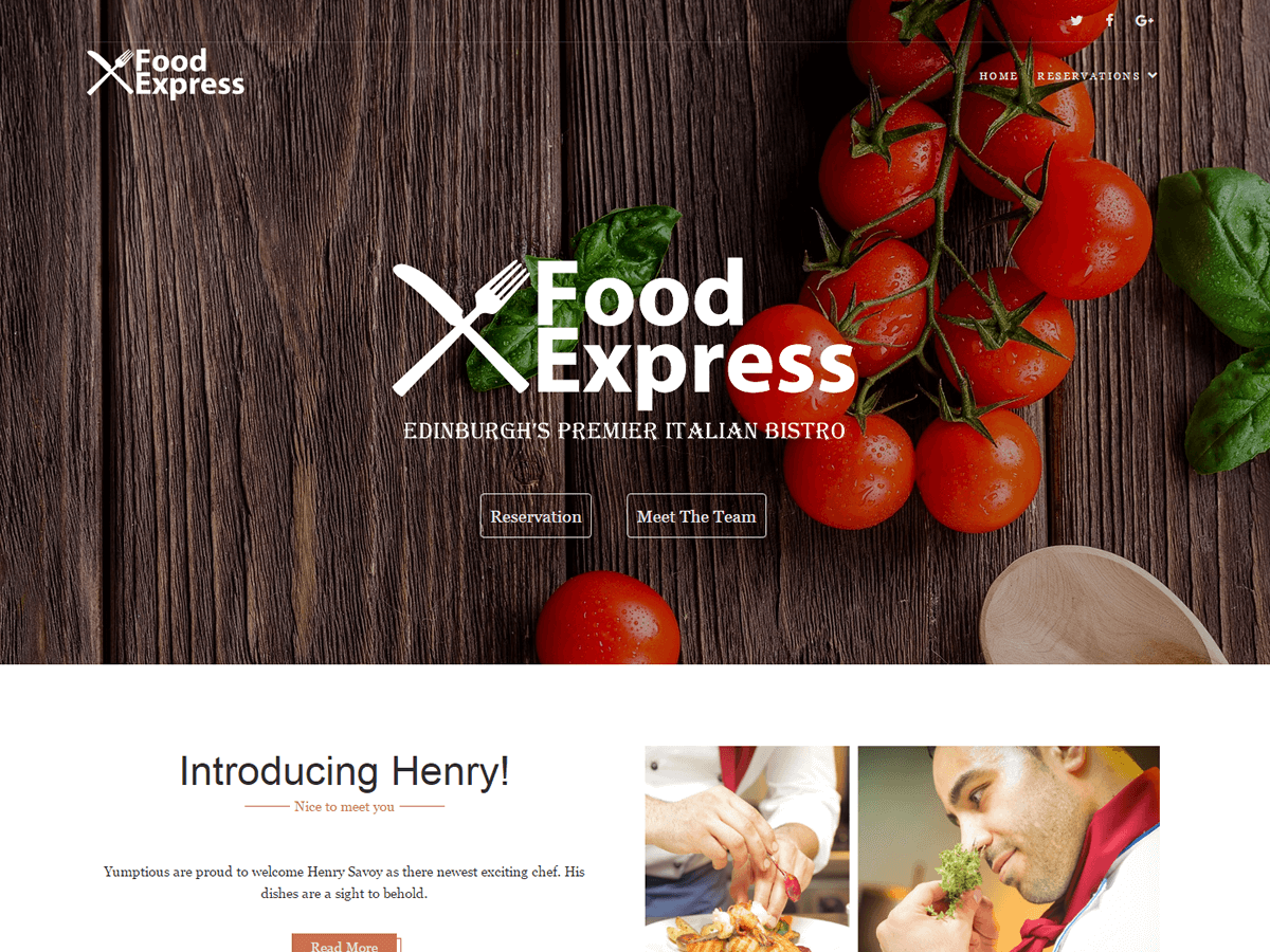 Food Express Preview Wordpress Theme - Rating, Reviews, Preview, Demo & Download