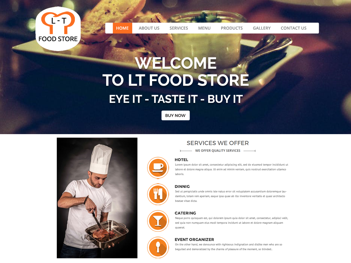 Food Restaurant Preview Wordpress Theme - Rating, Reviews, Preview, Demo & Download