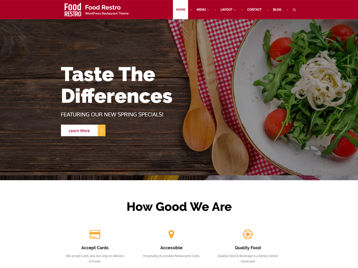 Food Restro Preview Wordpress Theme - Rating, Reviews, Preview, Demo & Download