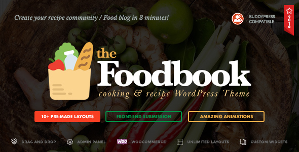 Foodbook Preview Wordpress Theme - Rating, Reviews, Preview, Demo & Download