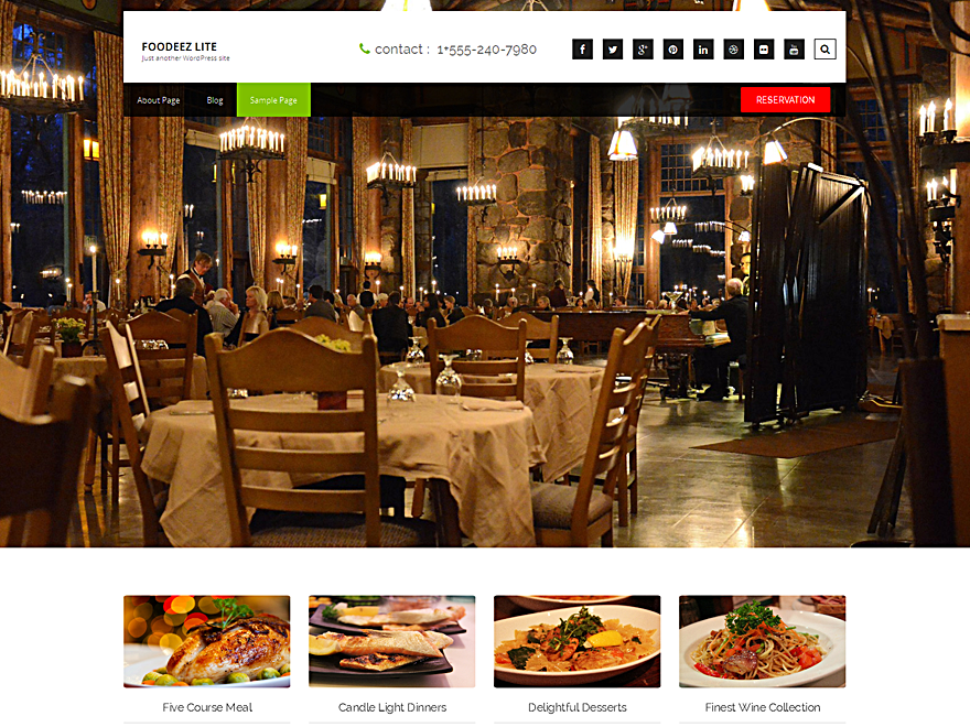 Foodeez Lite Preview Wordpress Theme - Rating, Reviews, Preview, Demo & Download