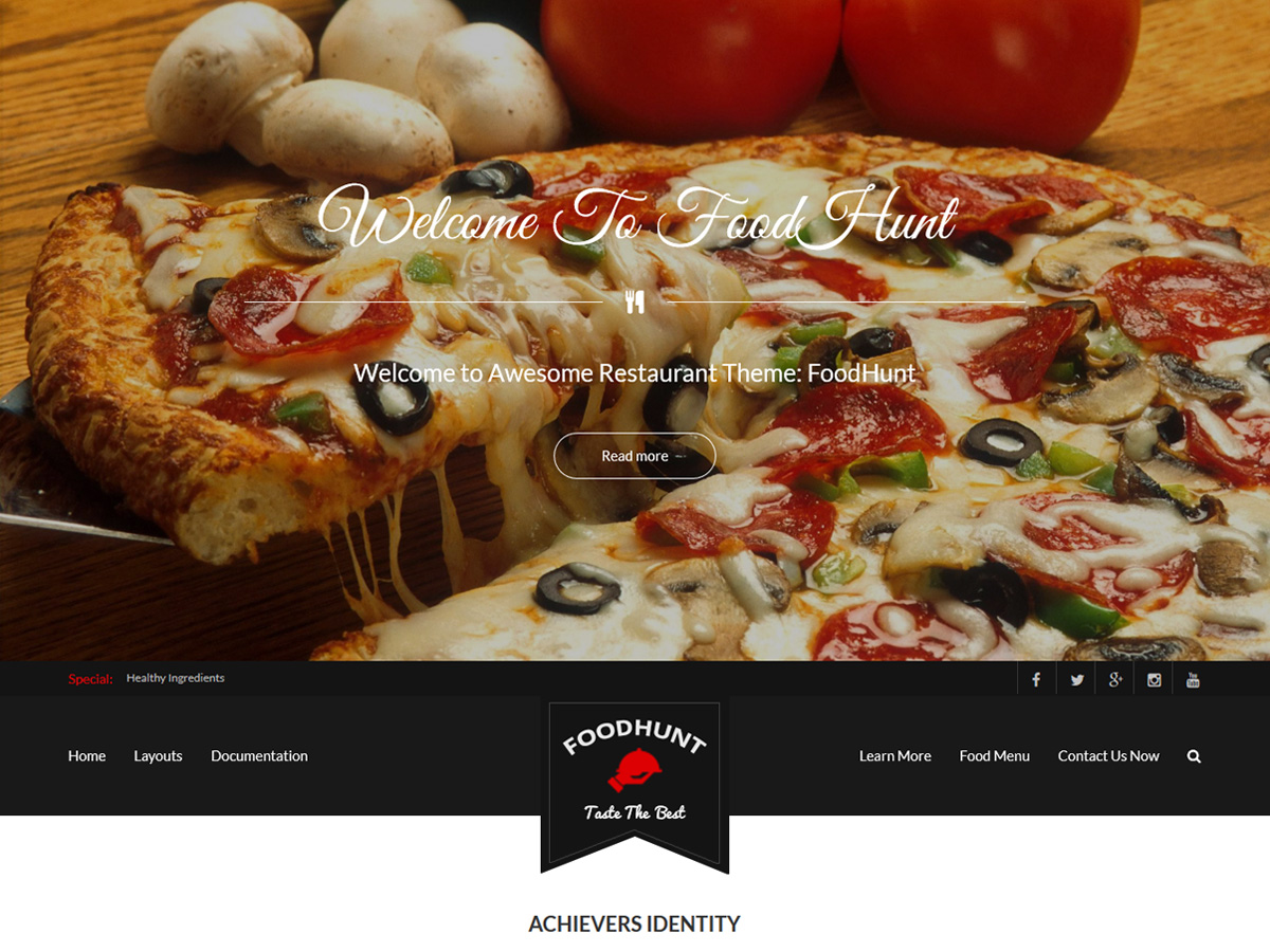 FoodHunt Preview Wordpress Theme - Rating, Reviews, Preview, Demo & Download