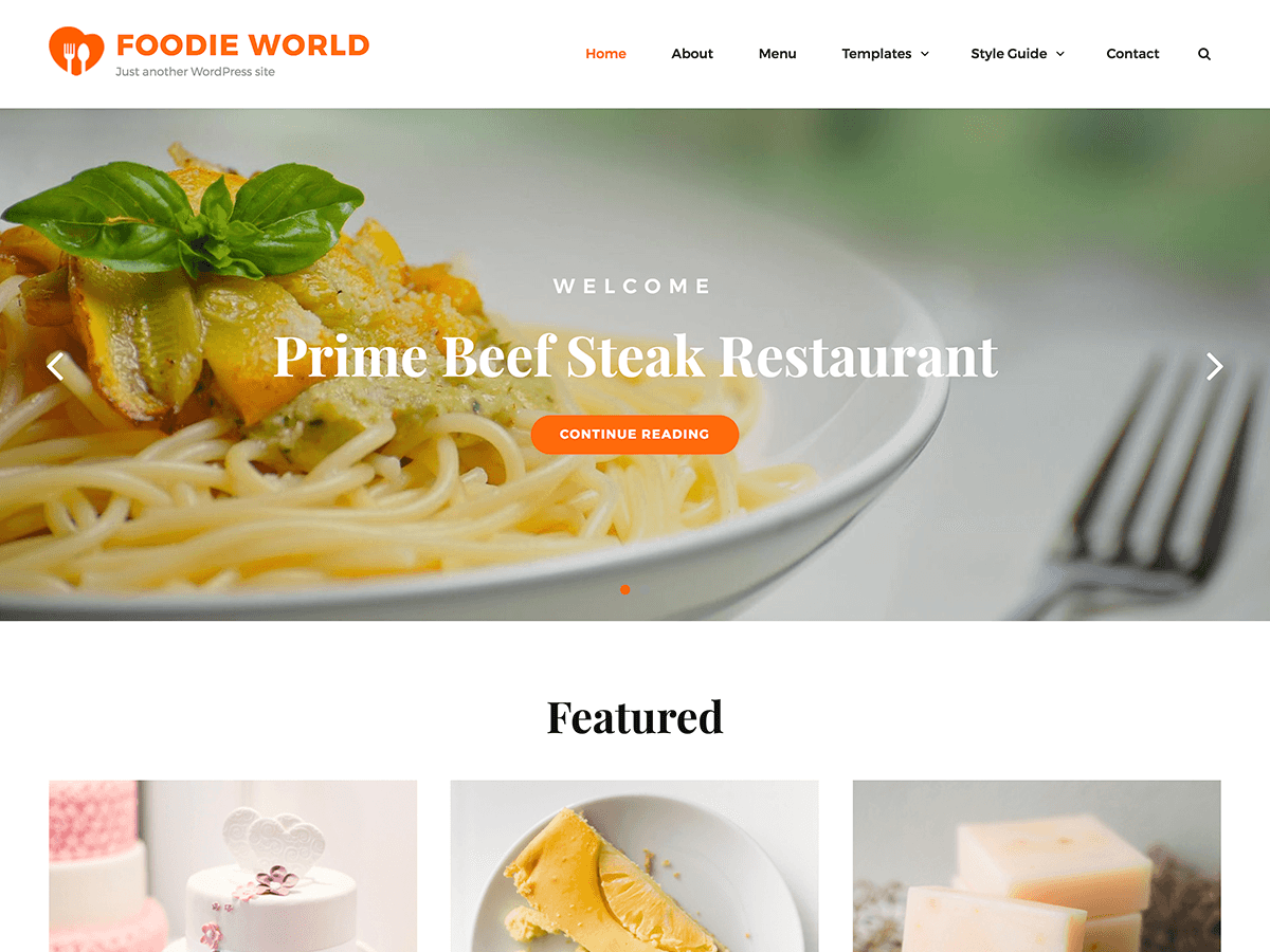 Foodie World Preview Wordpress Theme - Rating, Reviews, Preview, Demo & Download