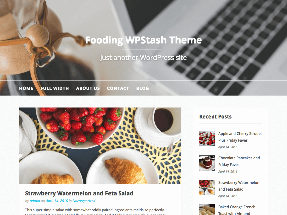 Fooding Preview Wordpress Theme - Rating, Reviews, Preview, Demo & Download