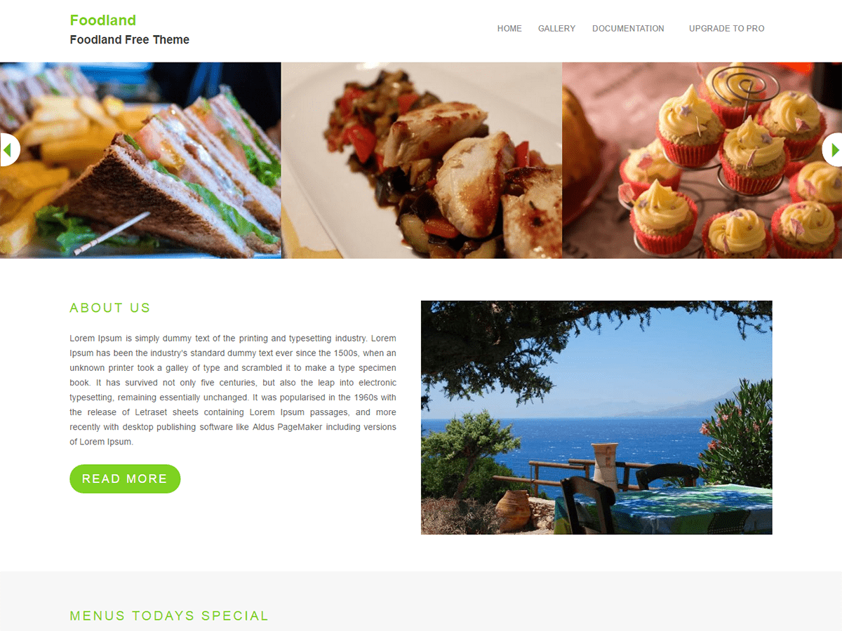 Foodland Preview Wordpress Theme - Rating, Reviews, Preview, Demo & Download