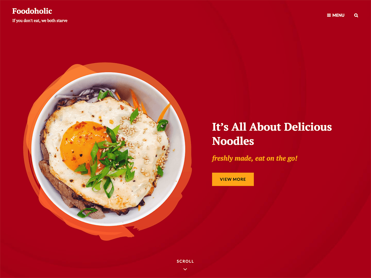 Foodoholic Preview Wordpress Theme - Rating, Reviews, Preview, Demo & Download