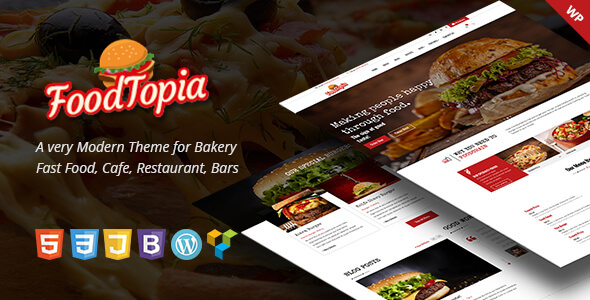 FoodTopia WordPress Preview Wordpress Theme - Rating, Reviews, Preview, Demo & Download