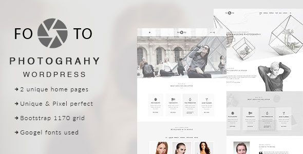 Footo Photography Preview Wordpress Theme - Rating, Reviews, Preview, Demo & Download