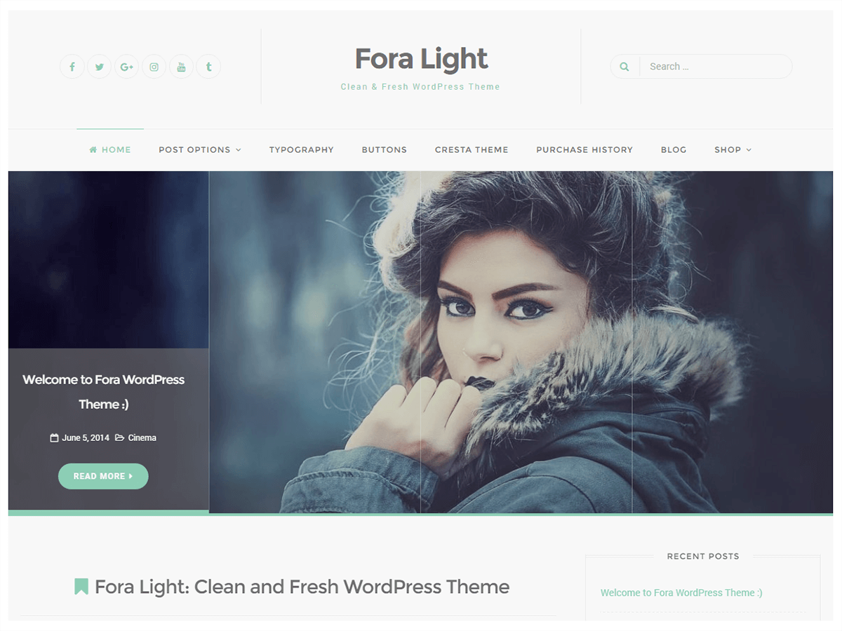 Fora Preview Wordpress Theme - Rating, Reviews, Preview, Demo & Download