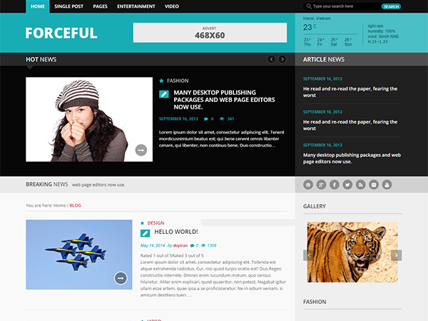 Forceful Lite Preview Wordpress Theme - Rating, Reviews, Preview, Demo & Download