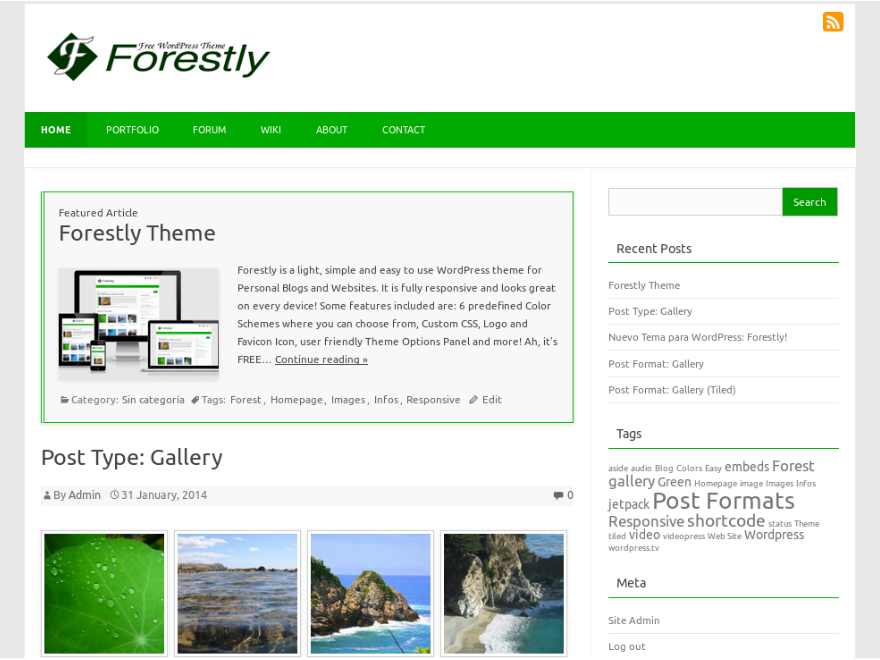 Forestly Preview Wordpress Theme - Rating, Reviews, Preview, Demo & Download