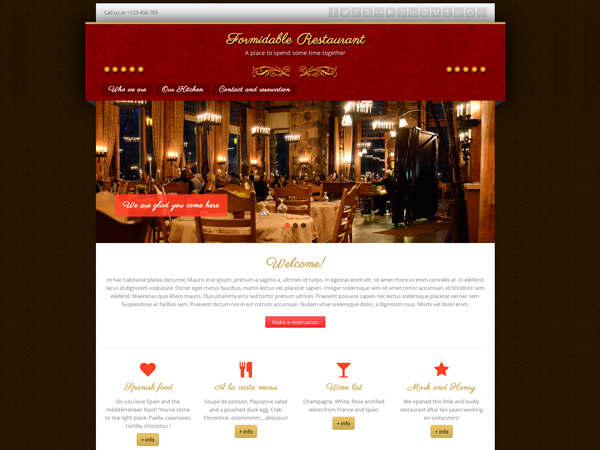 Formidable Restaurant Preview Wordpress Theme - Rating, Reviews, Preview, Demo & Download