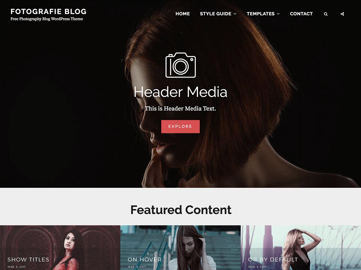 Fotografie Blog Preview Wordpress Theme - Rating, Reviews, Preview, Demo & Download