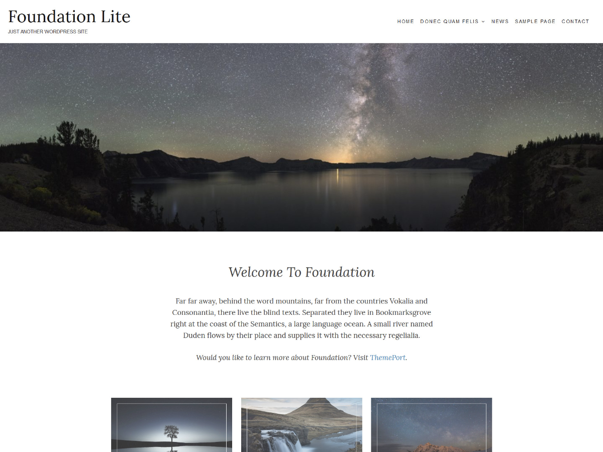 Foundation Lite Preview Wordpress Theme - Rating, Reviews, Preview, Demo & Download